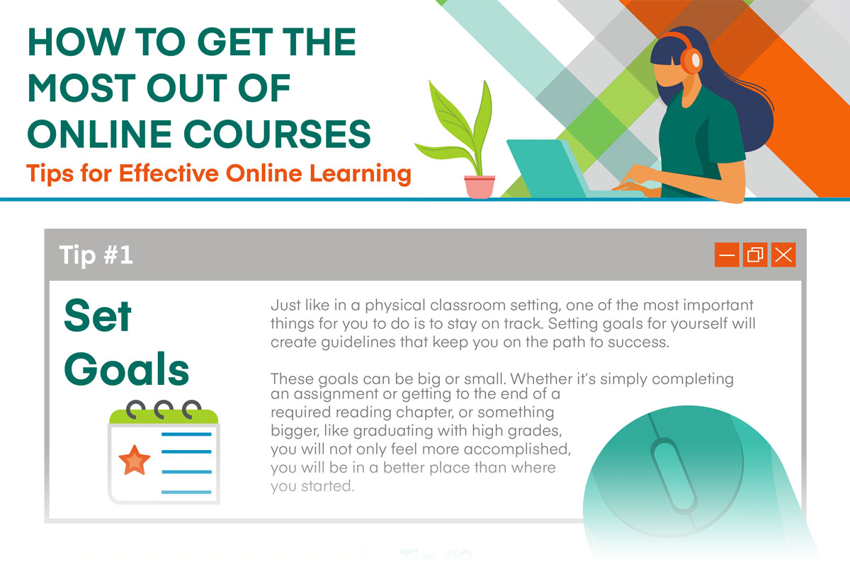 Tips for Effective Online Learning (Infographic)